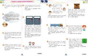 3.sınıf toplama ve çıkarma işlemi problemleri